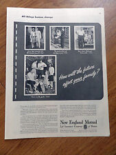 1948 New England Mutual Life Insurance Ad  How will future affect you Family?