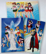 SAILOR MOON SR VENUS MARS MERCURY WEDDING 3 IDOL CARDS JAPAN MINT VINTAGE