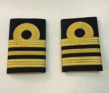 Gold Embossed Rank Slides, RN, Royal Navy Lieutenant Commander, Liet Military,