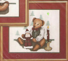 "Janlynn Christmas ""Christopher"" Teddy Bear Counted Cross Stitch Kit"