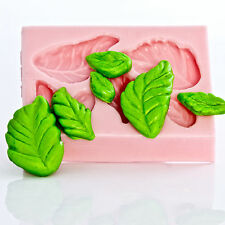 Flexible Rose Leaf Silicone Mold Polymer Clay Resin PMC Candy Flower Paste (706)