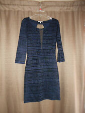 WOMEN'S JUNIOR CHARLOTTE RUSSE DRESS BLACK WITH BLUE SMALL