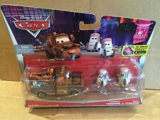 DISNEY CARS DIECAST - Mater With Allinol Cans & Edamame & Daisu Tsashimi (New)