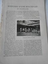 1905 Histoire d'une bouteille de Champagne
