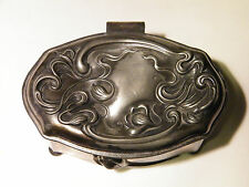 Early 1900s VICTOR SILVER ART NOUVEAU Repousse Casket Box~Quad Plated~Lined~EX!!