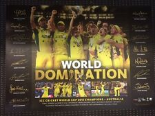 Australia 2015 ICC Cricket World Cup Champions Limited Print Clarke Warner Smith