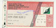CARDIFF v LLANELLI 7 MAY 1994 WELSH CUP FINAL RUGBY TICKET