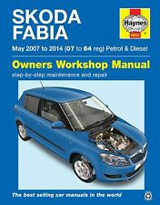 Haynes Manual Skoda Fabia Petrol & Diesel May 2007-2014 NEW 6033