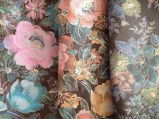 4+ Yards Black Floral 58 Inches Wide Quilt Fabric