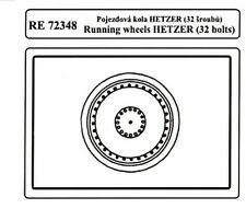 Attack RE72348 1/72 WWII German Hetzer RunningWheel 32 Bolt