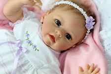 "SO LOVABLE & SWEET! Lifelike Moving 22 Inch Baby Girl Doll ""Chloe"""