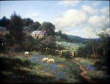 Larry Dyke The Gate Sheep Farm Print 12 x 9
