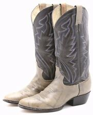 Justin Diamond J Mens Cowboy Boots 7 EE wide blue gray 2 tone Leather Weste