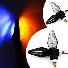 4 x Turn Signal Indicators Amber / Blue Light 12V LED For Most Motorcycle Bike