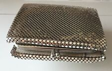 WHITING & DAVIS Silver Mesh Coin Purse Wallet Made in USA Evening Accessory