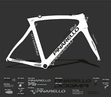 PINARELLO DOGMA F8 CUSTOM MADE FRAME DECAL SET BLACK / SILVER
