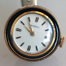 "Enamel ""BOREL"" Women's Pendant Ball Wind-Up Watch for Necklace~VINTAGE!"