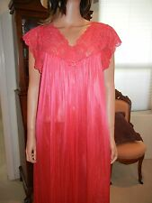 VINTAGE PEIGNOIR SET, SHADOWLINE SHEER NYLON  NIGHTGOWN AND ROBE, 2X,  #32737