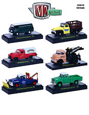 AUTO TRUCKS 6 PIECE SET RELEASE 36 IN ACRYLIC CASES 1/64 BY M2 MACHINES 32500-36