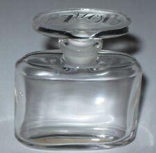 "Vintage Caron Baccarat  Perfume Bottle Le Tabac Blond - 1 OZ - Empty - 2 1/2"""