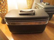 VINTAGE SAMSONITE SILHOUETTE GRAY HARD TRAIN/COSMETIC TRAVEL CASE