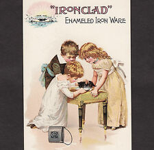Nelly Bly Brooklyn Iron Clad Enameled Kitchen Ware Cat Milksop Advertising Card