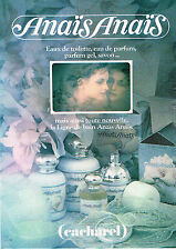 PUBLICITE ADVERTISING 114  1979  CACHAREL eau de toilette ligne bain ANAIS