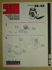 SHINDAIWA EB- 45 BACKPACK BLOWER ILLUSTRATED PARTS LIST MANUAL