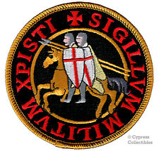 KNIGHTS TEMPLAR BIKER PATCH RELIGIOUS CHRISTIAN MILITARY BLACK embroidered NEW