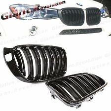 Piano Gloss Black Front Kidney Grille For 2014+ BMW F25 X3 F26 X4 SUV Sporty 4DR