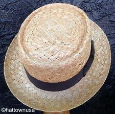 """NEW Men's Bailey """"Louie"""" Ventilated Bao Straw Pork Pie Hat, Large, Made in USA"""