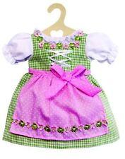 Heless Puppenkleidung, Dirndl, grün mit rosa Schürze,  für 28 - 35 cm Puppen