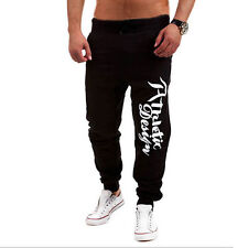 Mens Trousers Sweat Pants Jogging Joggers Tracksuit Hip Hop Gym Casual Bottoms