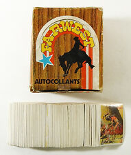 Over (200) 1976 Far West Album Stickers with Empty Display Box (France)