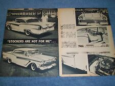 """1957 Ford Fairlane 500 Vintage Custom Led Sled Article """"Stockers Are Not For Me"""""""