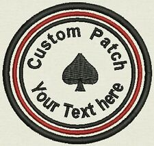 """Custom Round Patch Patch, Badge, Tag, 3.5"""" - Add text - Iron On, or Sew On,"""