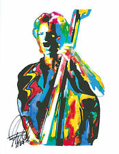 Sting, The Police, Singer, Vocals, Bass Guitar Player, Rock Bassist PRINT w/COA