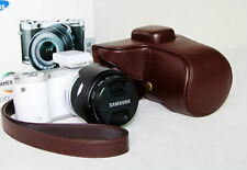 New coffee leather camera case bag cover for Samsung NX300 NX300M NX500