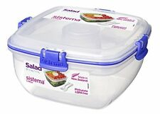 Sistema klip IT salad to go lunchbox container clear with blue clips - 1.1 L