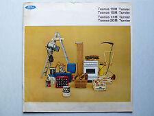 Prospekt Ford Taunus Turnier 12MP6,17M/20MP5, 10.1966, 30x30cm, 16 S. Österreich