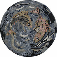 Fish Swimming At The Bottom Of The Sea Marble Mosaic AN1159