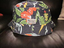 Polo Ralph Lauren Reversible Big Sur Surfer Hawaiian Bucket Rim Crusher Hat Navy