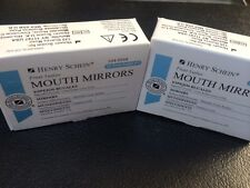 Dental Henry Schein  Mouth Mirror front surface Cone Socket #5  Two box 12 Each