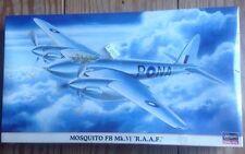 Hasegawa 1:72 Mosquito FB Mk.VI RAAF Plastic Aircraft Model Kit #00656 New
