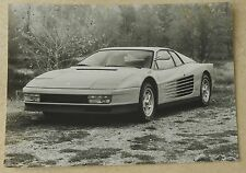 Ferrari testarossa Photo Pininfarina Press book buch brochure prospekt depliant