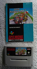Super Mario Kart - SNES Video Game With Manual PAL Format Nintendo Instructions