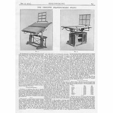 1912 Antique Engineering Print - The Descotte Drawing Board Stand