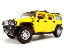 2003 HUMMER H2 SUV YELLOW 1:18 DIECAST MODEL CAR BY MAISTO 36631