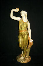 "Royal Worcester ""LIBERTY"" Maiden Holding a Dove Porcelain Figurine 14.25"" C1911"