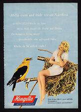 3w1852/ Alte Reklame von 1960 - HENGELLA - Trikot- u. Strickwarenfabrik - Aalen